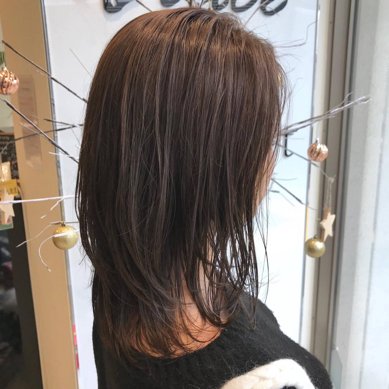 ハイライト 外国人風カラー アッシュ グレージュヘアスタイルや髪型の写真・画像