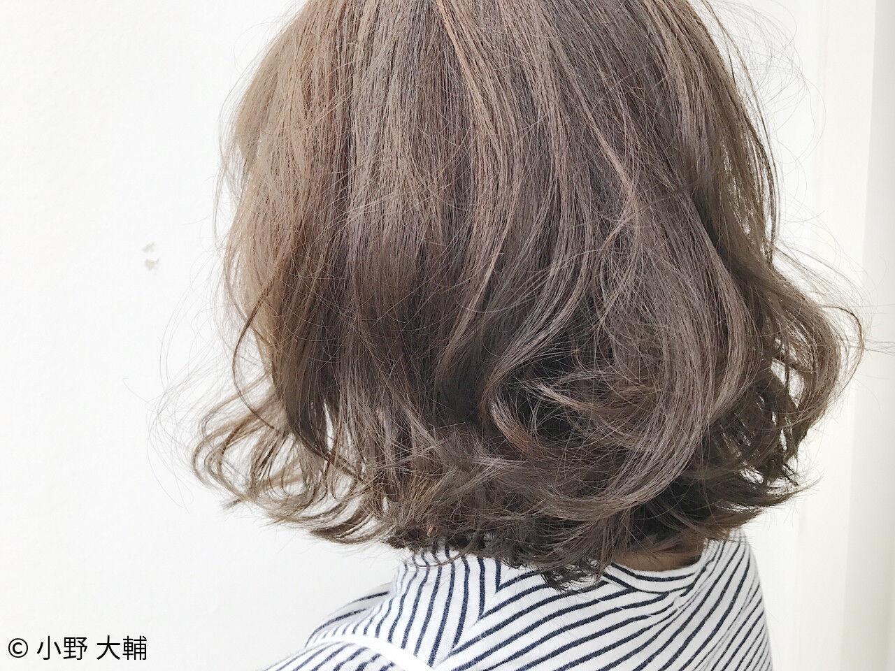 ナチュラル ボブ 秋 アッシュグレージュヘアスタイルや髪型の写真・画像