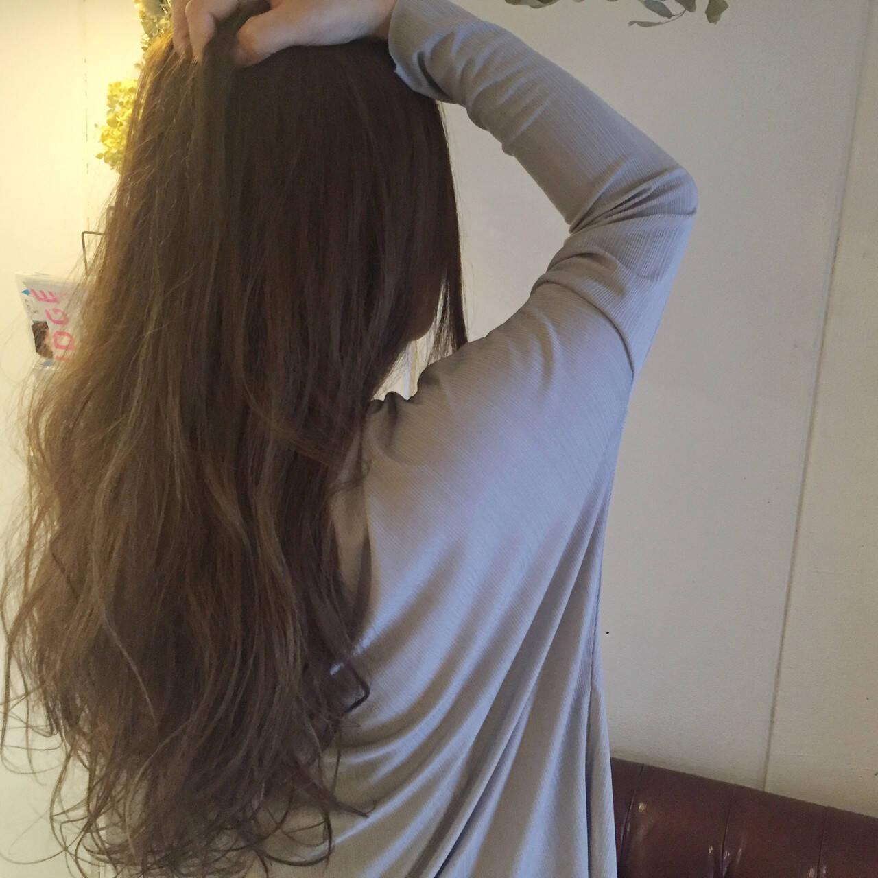 ストリート アッシュ ハイライト ロングヘアスタイルや髪型の写真・画像