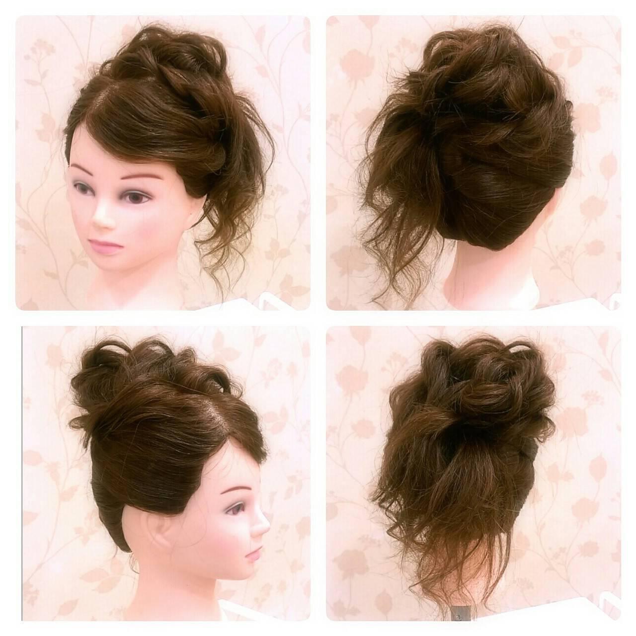 ロング パーティ 大人かわいい ヘアアレンジヘアスタイルや髪型の写真・画像
