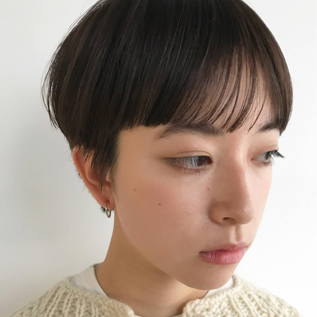 ベリーショート マッシュ ナチュラル かっこいいヘアスタイルや髪型の写真・画像