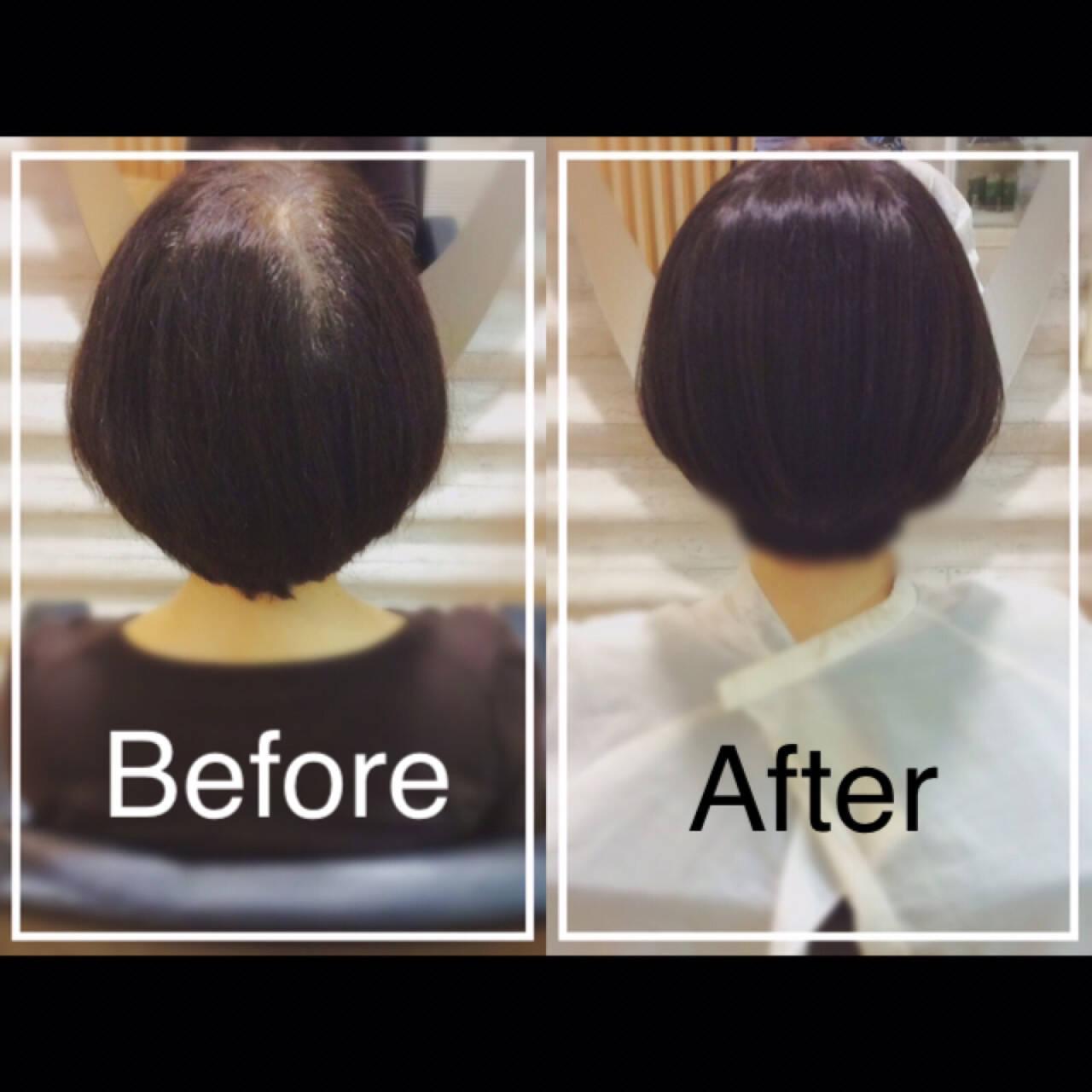 髪質改善カラー 大人カジュアル エレガント ボブヘアスタイルや髪型の写真・画像