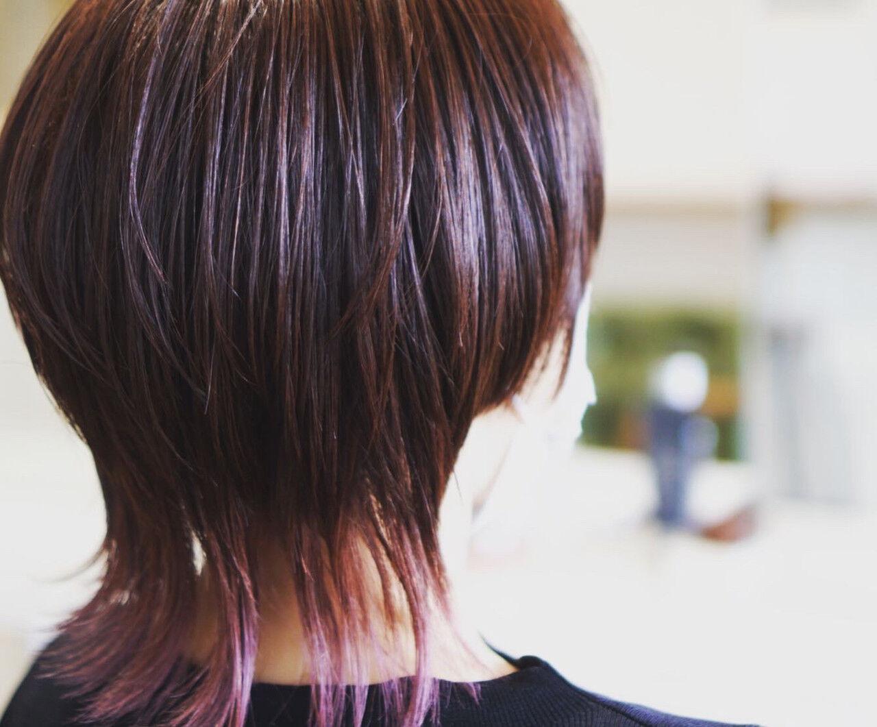 ショート モード インナーカラーヘアスタイルや髪型の写真・画像