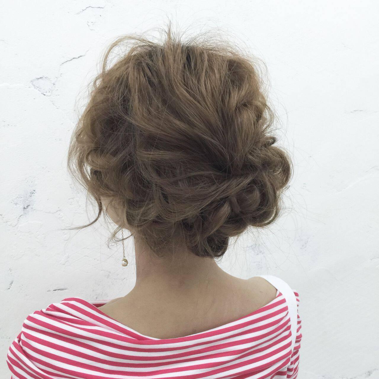 モテ髪 ナチュラル ヘアアレンジ ゆるふわヘアスタイルや髪型の写真・画像