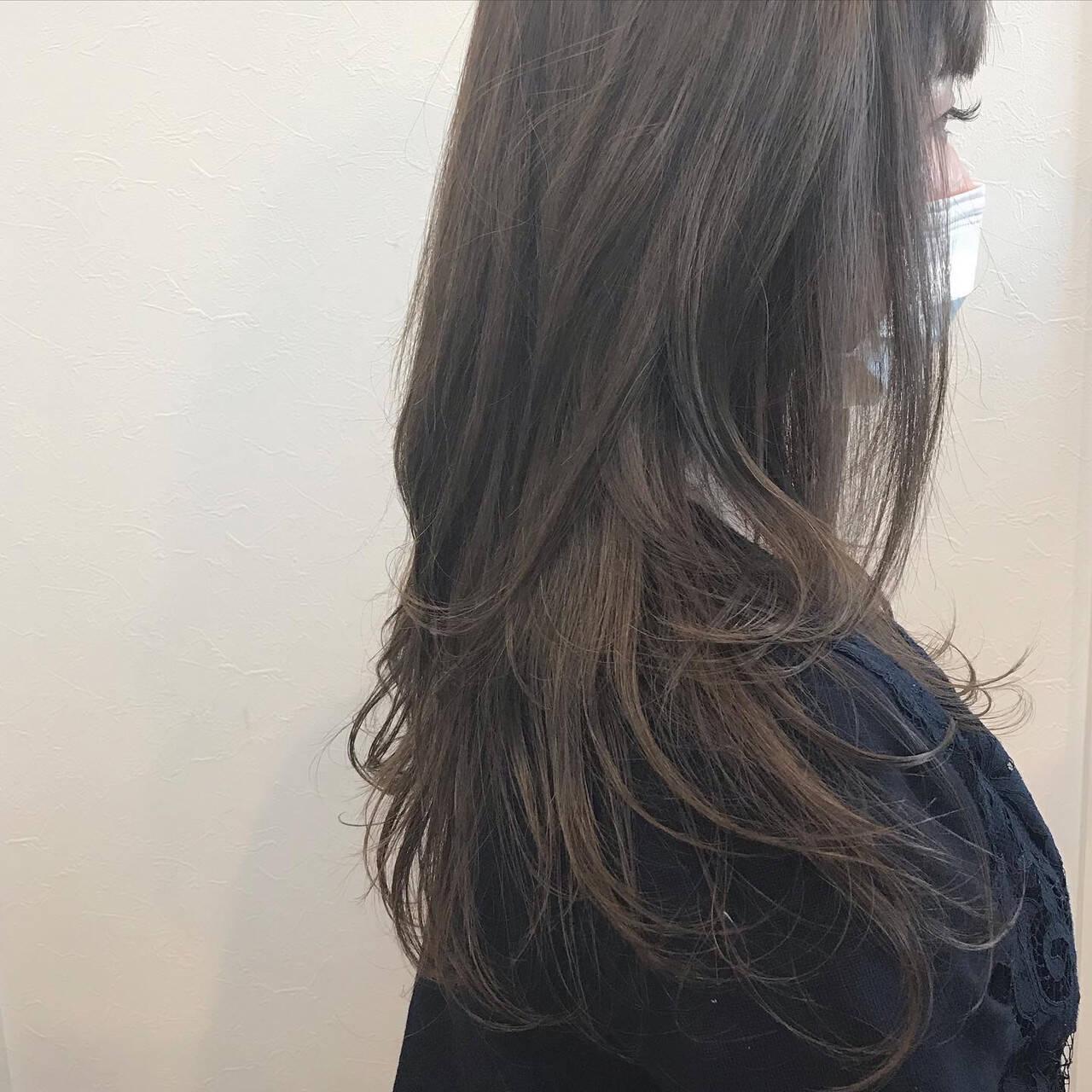 ゆる巻き 大人ヘアスタイル 巻き髪 ロングヘアスタイルや髪型の写真・画像