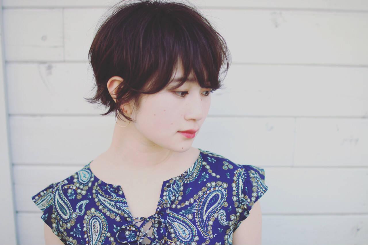 大人かわいい 夏 ショート ヘアアレンジヘアスタイルや髪型の写真・画像