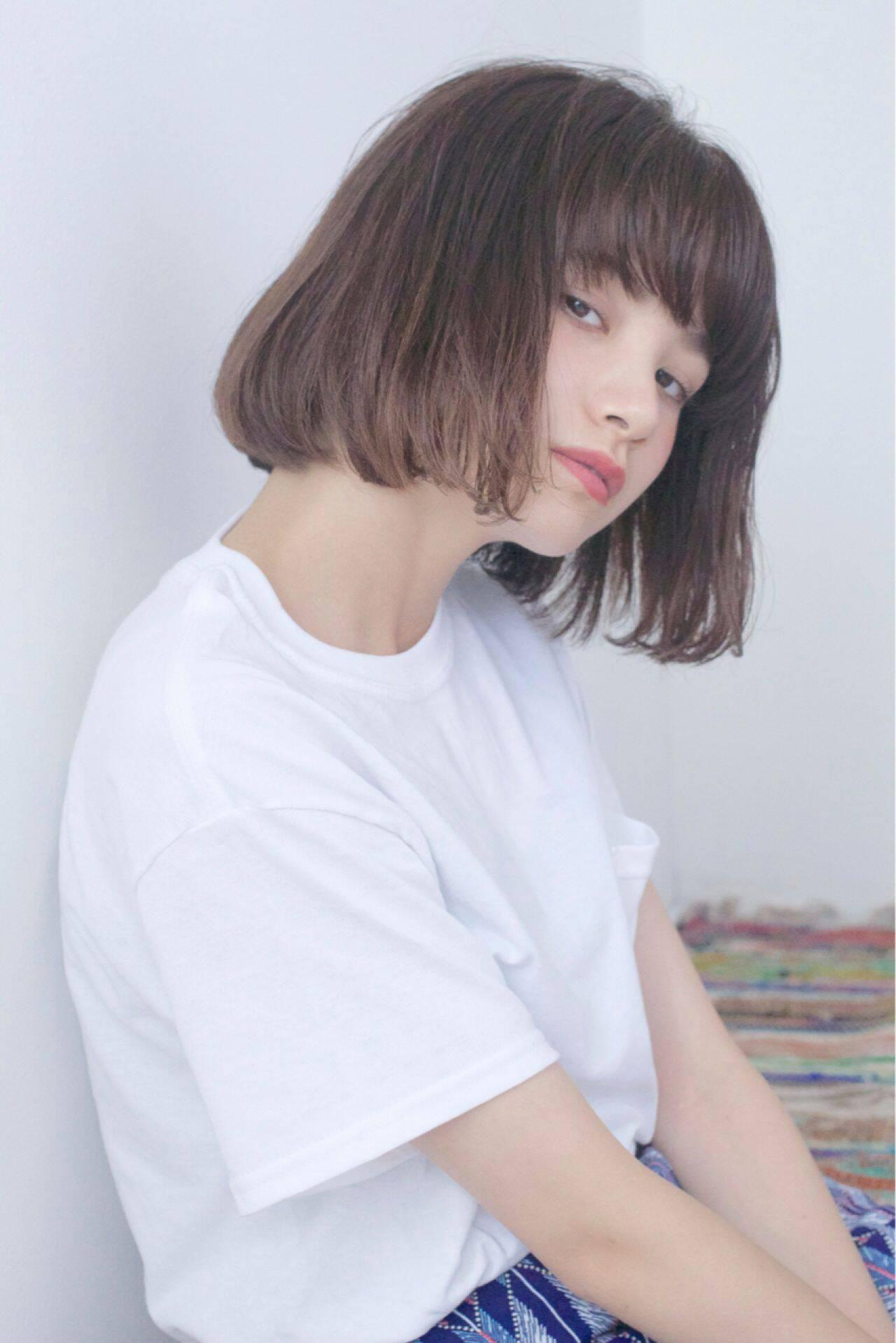 大人かわいい ストリート 外国人風 ボブヘアスタイルや髪型の写真・画像