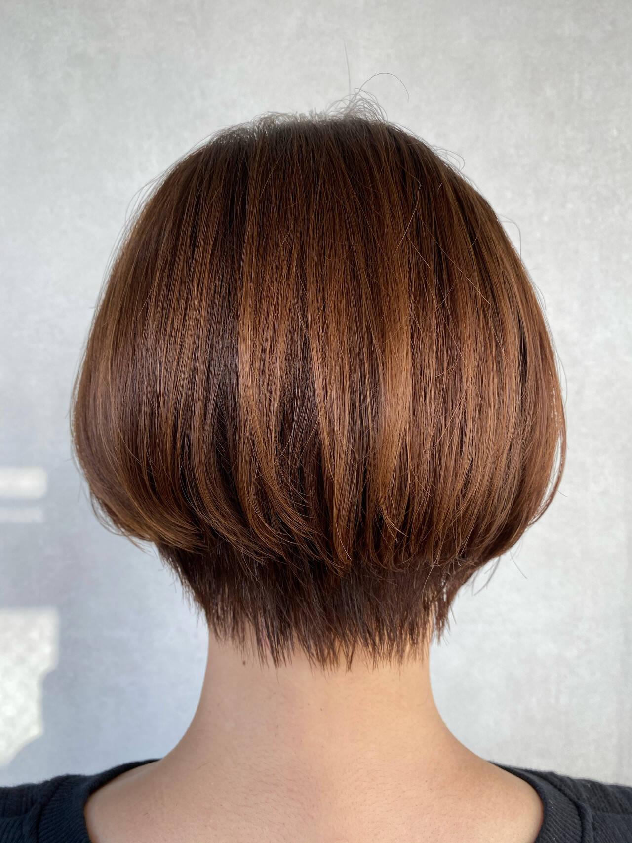 ボブ フェミニン ショートヘア ショートボブヘアスタイルや髪型の写真・画像