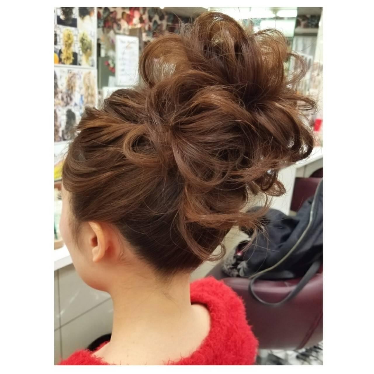 謝恩会 ヘアアレンジ アウトドア ストリートヘアスタイルや髪型の写真・画像