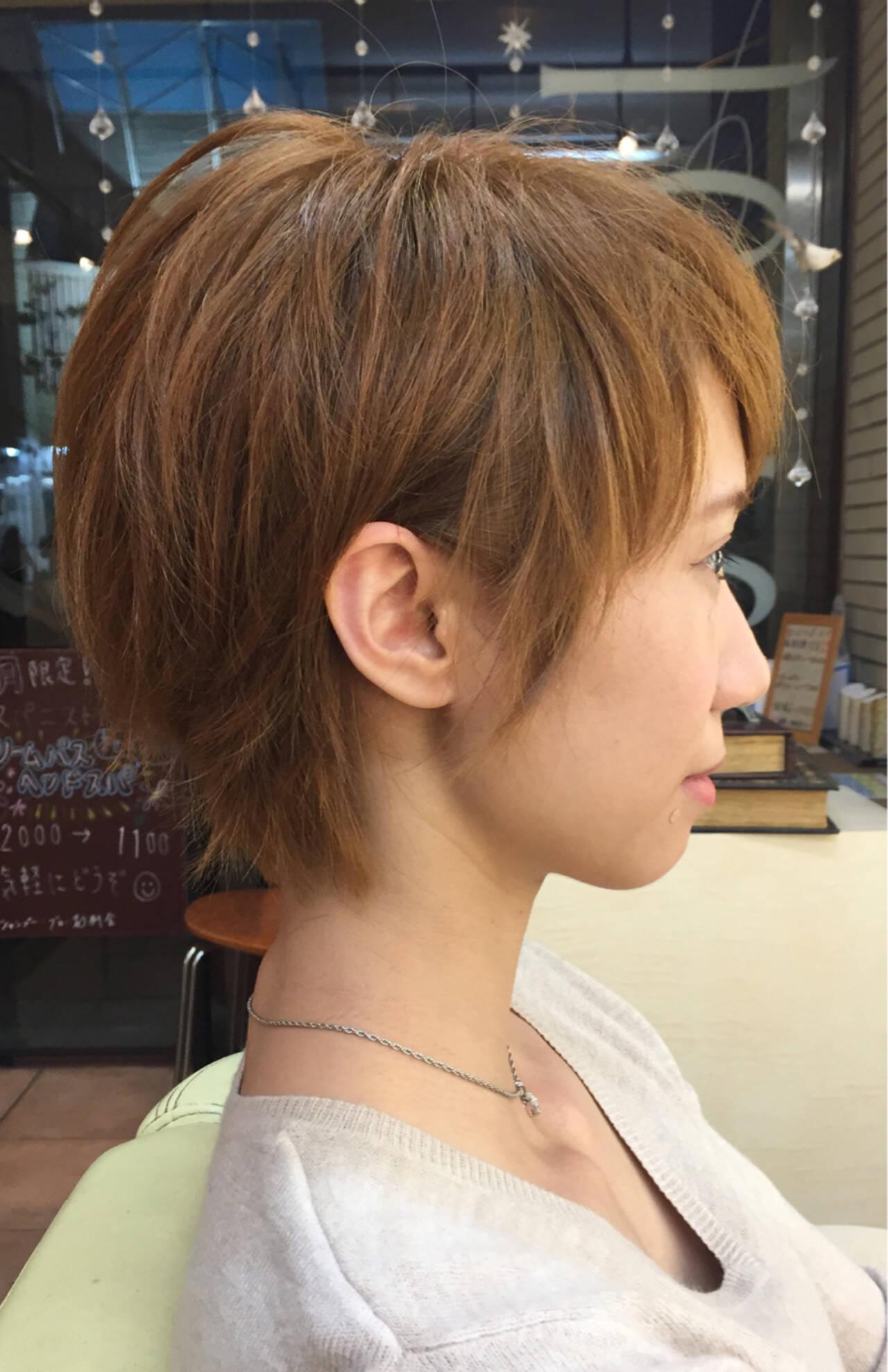 ショート フェミニン 外国人風 大人かわいいヘアスタイルや髪型の写真・画像