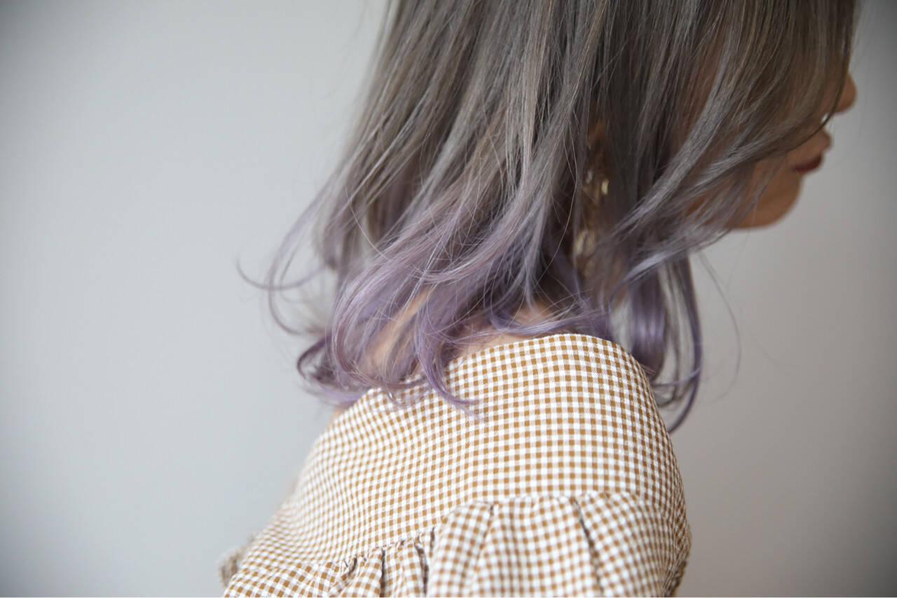 ミディアム アッシュ 上品 透明感ヘアスタイルや髪型の写真・画像