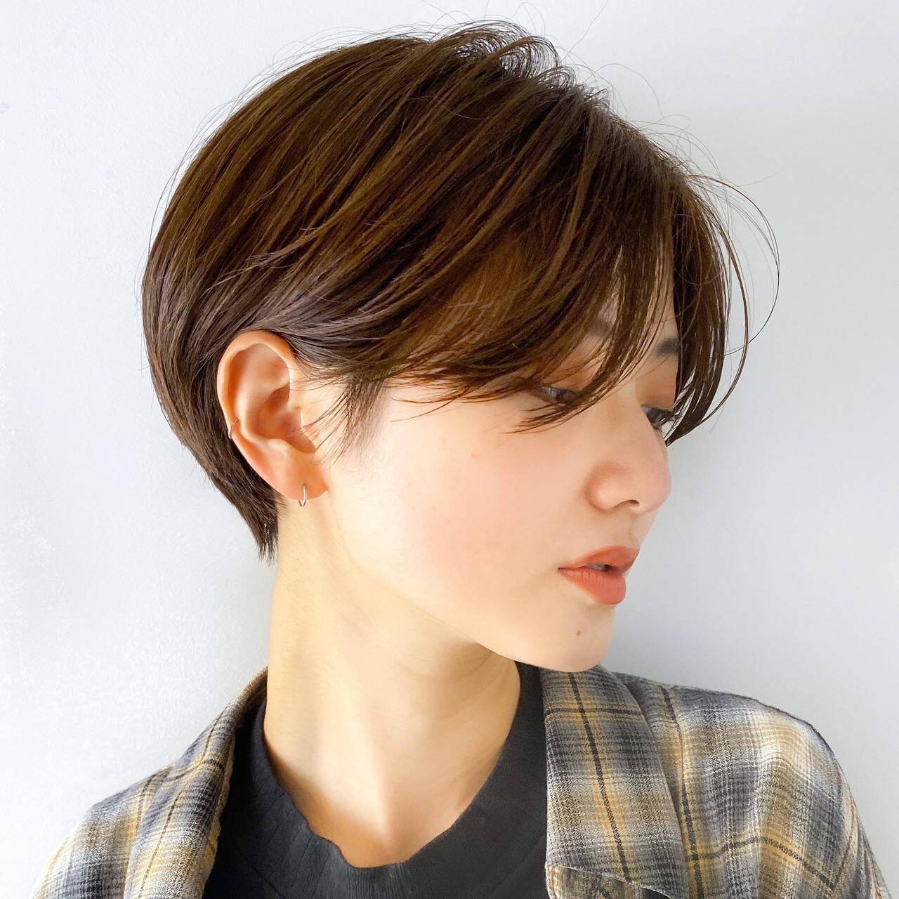 ハンサムショート ショートヘア ショートボブ ショートヘアスタイルや髪型の写真・画像