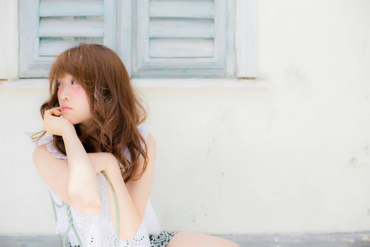 フェミニン ナチュラル 卵型 ゆるふわヘアスタイルや髪型の写真・画像