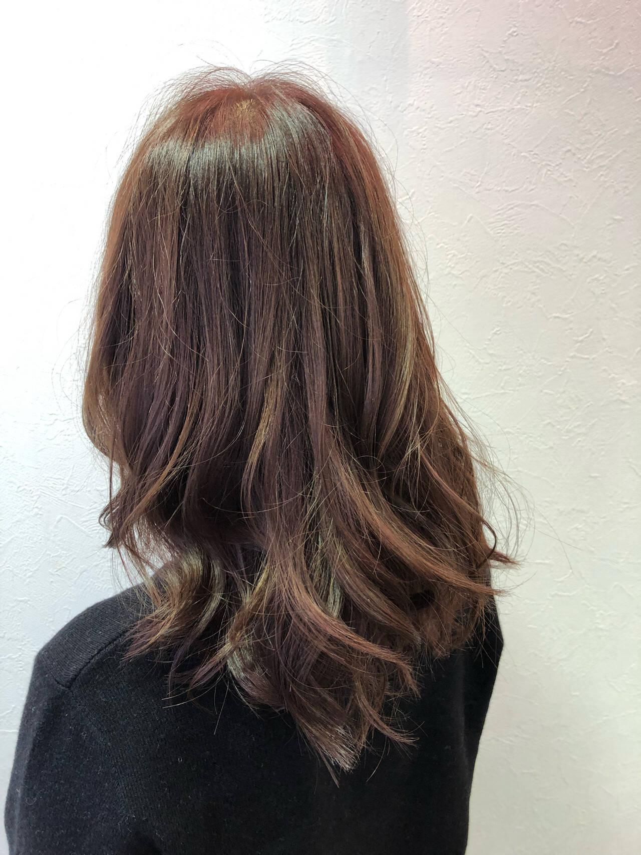 フェミニン 大人かわいい ピンク アンニュイほつれヘアヘアスタイルや髪型の写真・画像