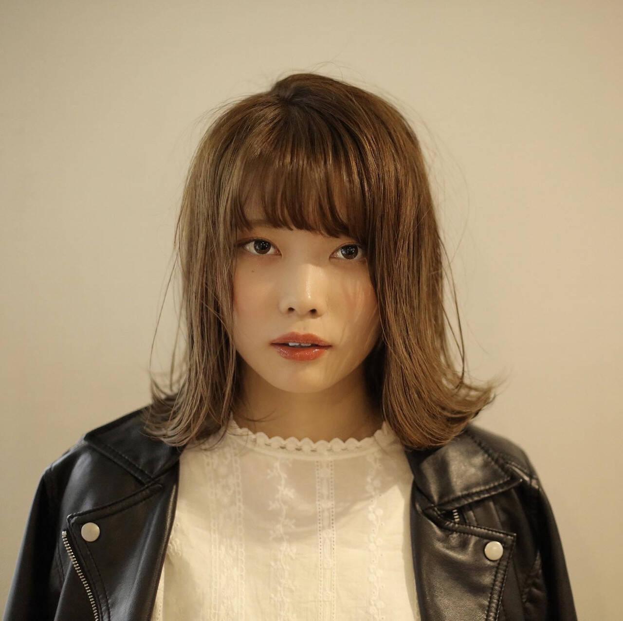 ブリーチなし 透明感カラー ボブ ナチュラルヘアスタイルや髪型の写真・画像