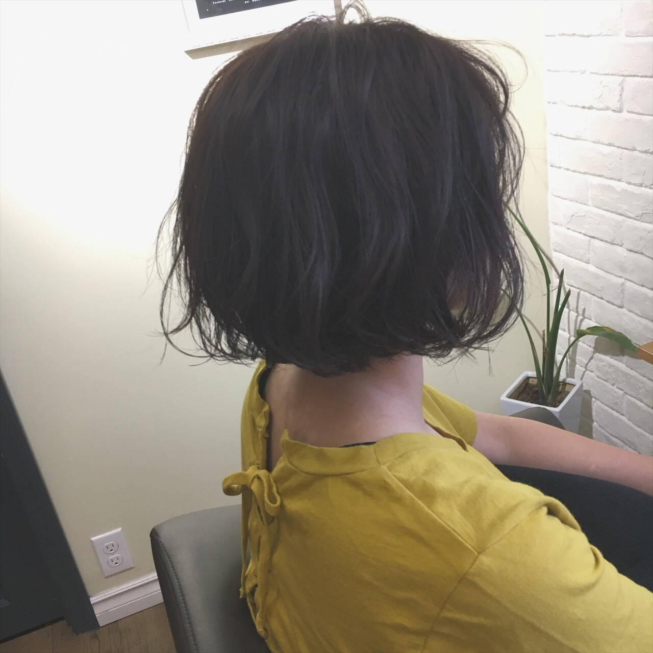 ナチュラル ニュアンス ショート パーマヘアスタイルや髪型の写真・画像