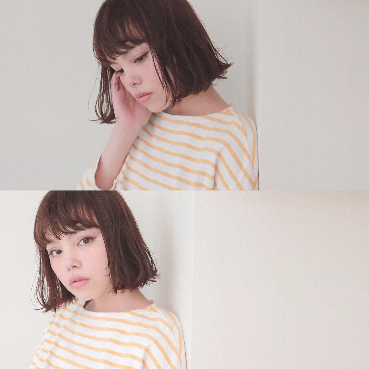 アンニュイ 色気 切りっぱなし 大人女子ヘアスタイルや髪型の写真・画像