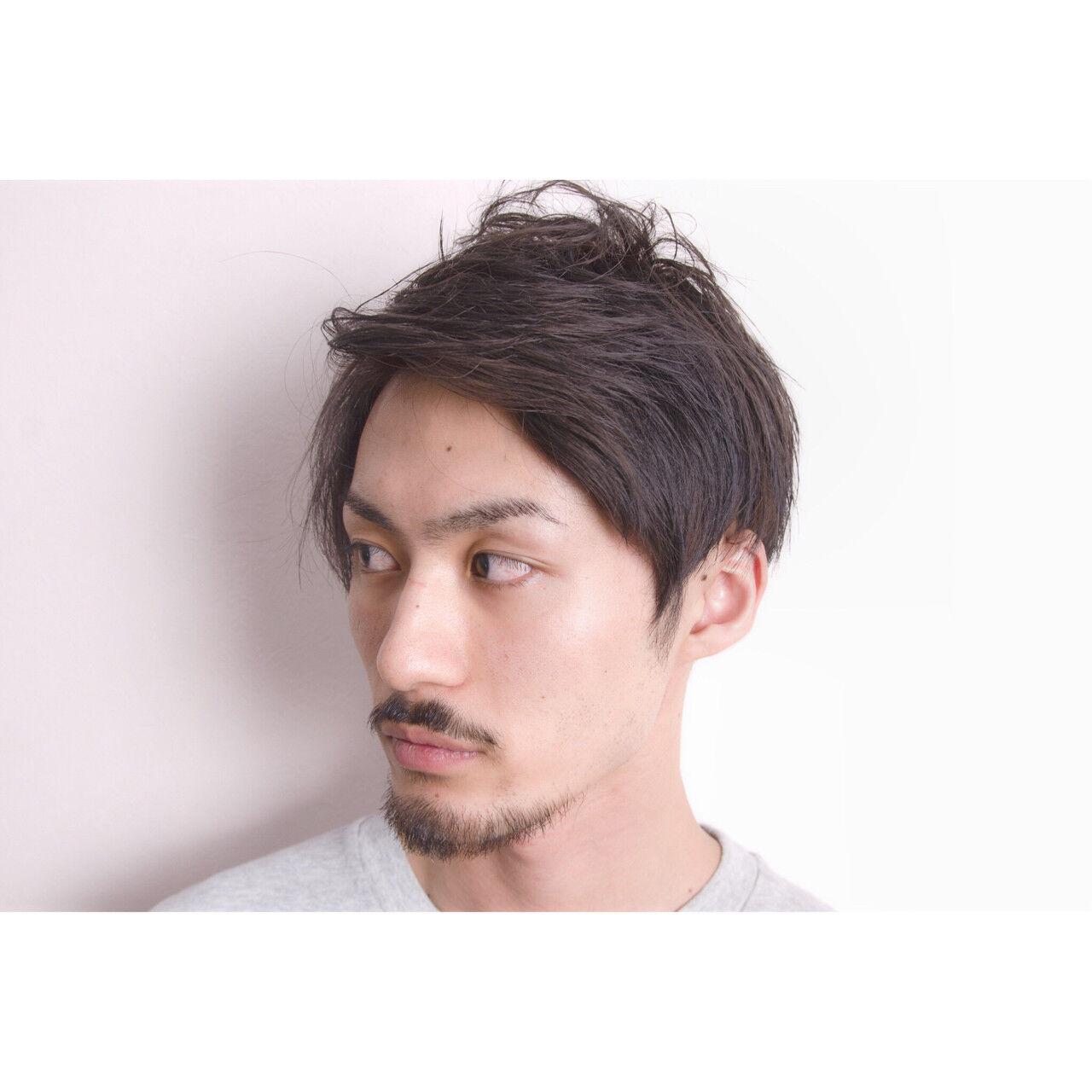 モード ショート モテ髪 黒髪ヘアスタイルや髪型の写真・画像