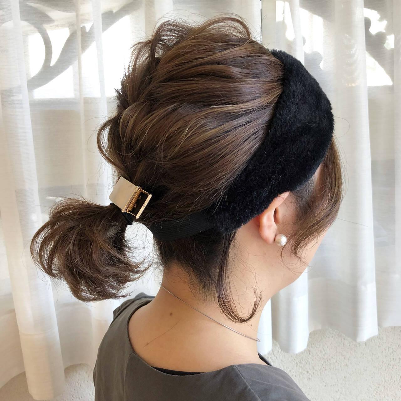 簡単ヘアアレンジ ボブ ヘアアクセ ヘアアレンジヘアスタイルや髪型の写真・画像