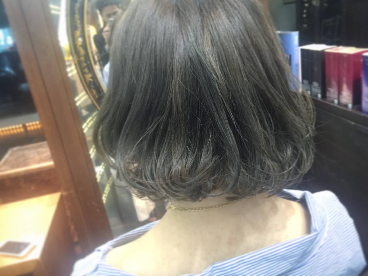 グレージュ ワンレングス 外国人風 外国人風カラーヘアスタイルや髪型の写真・画像