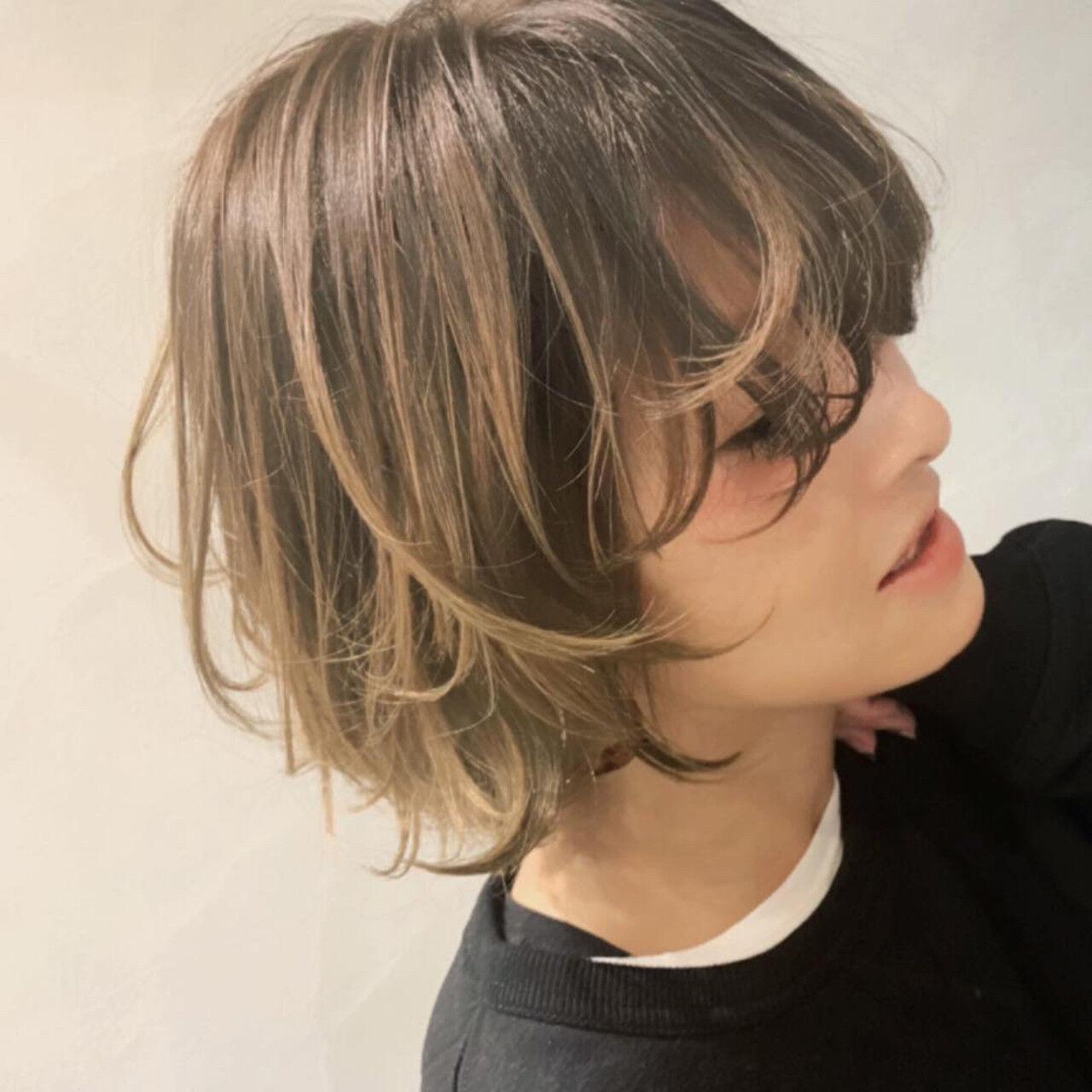 大人ハイライト ママ ママヘア バイヤレージュヘアスタイルや髪型の写真・画像