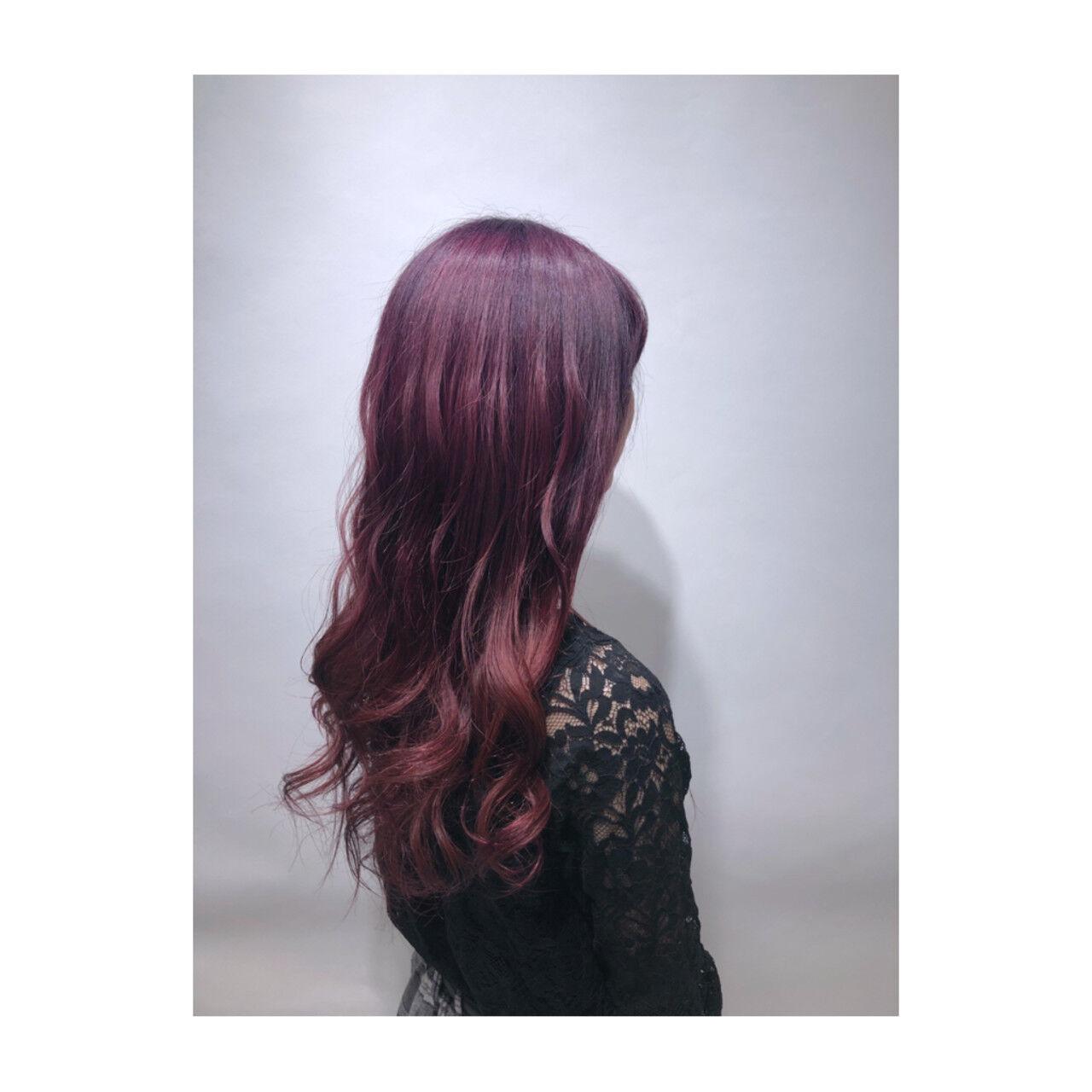 ラベンダー ラベンダーピンク ガーリー ベリーピンクヘアスタイルや髪型の写真・画像