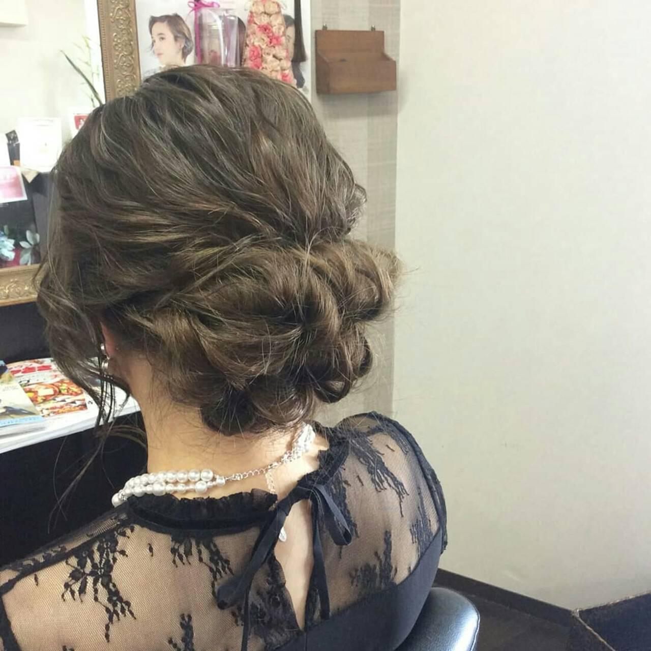 結婚式 上品 エレガント ヘアアレンジヘアスタイルや髪型の写真・画像