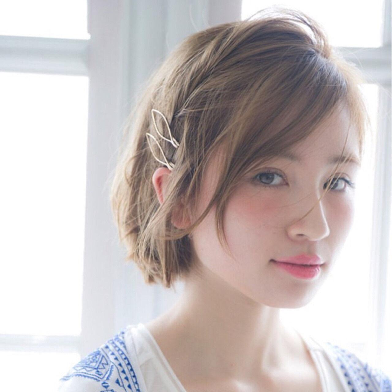 ショート 外国人風 ガーリー 金髪ヘアスタイルや髪型の写真・画像
