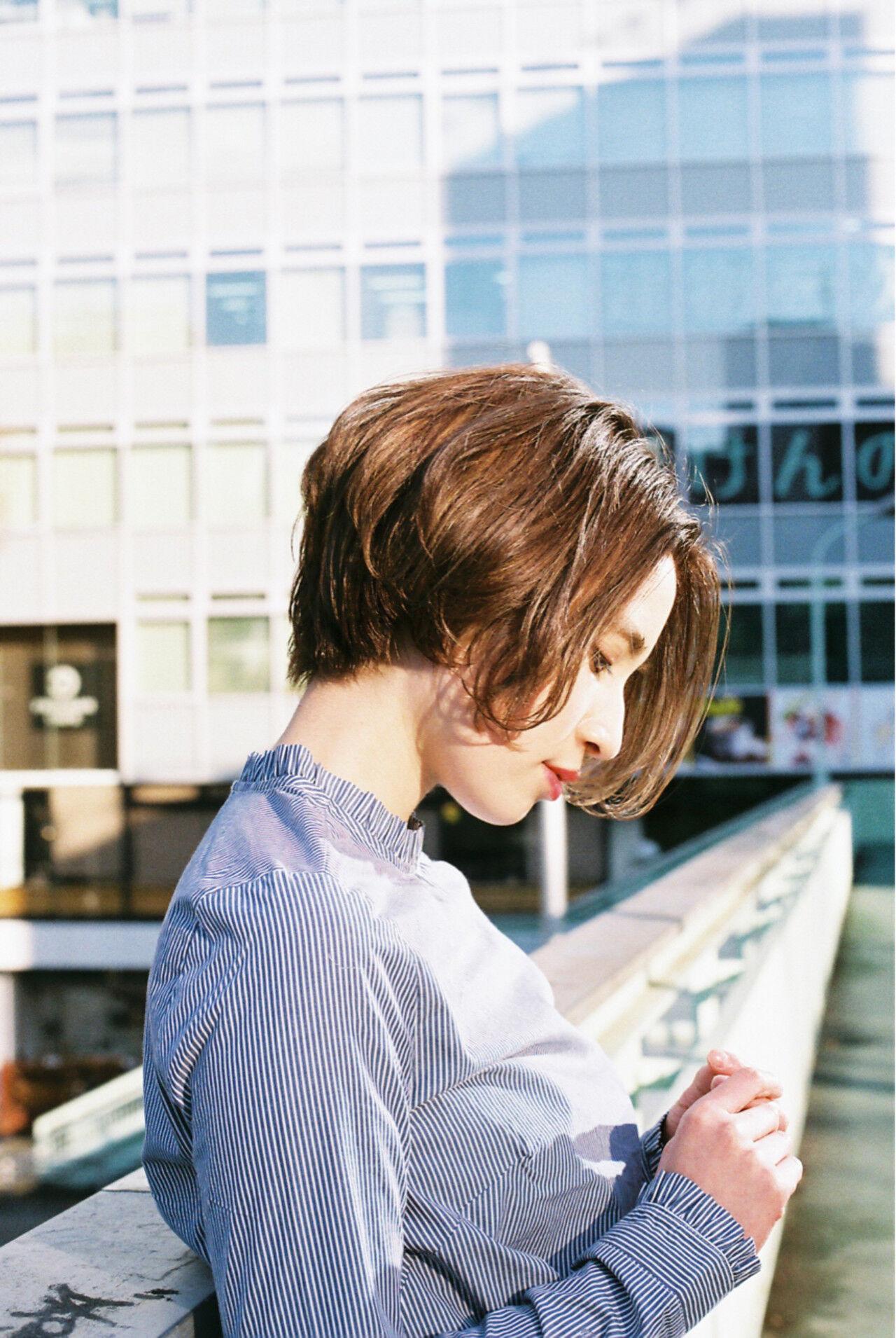 ニュアンス 冬 こなれ感 小顔ヘアスタイルや髪型の写真・画像