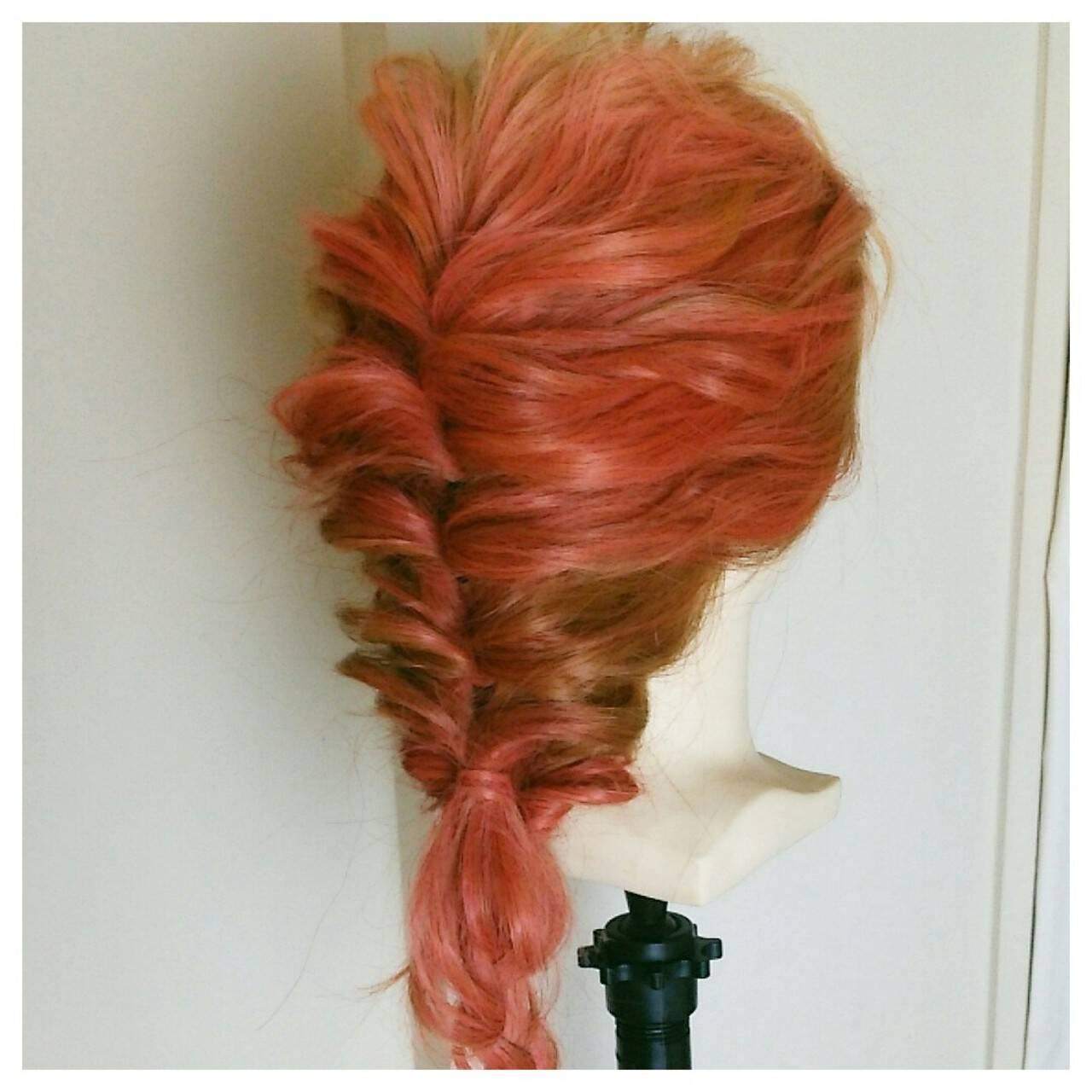 くるりんぱ ショート 外国人風 ロングヘアスタイルや髪型の写真・画像