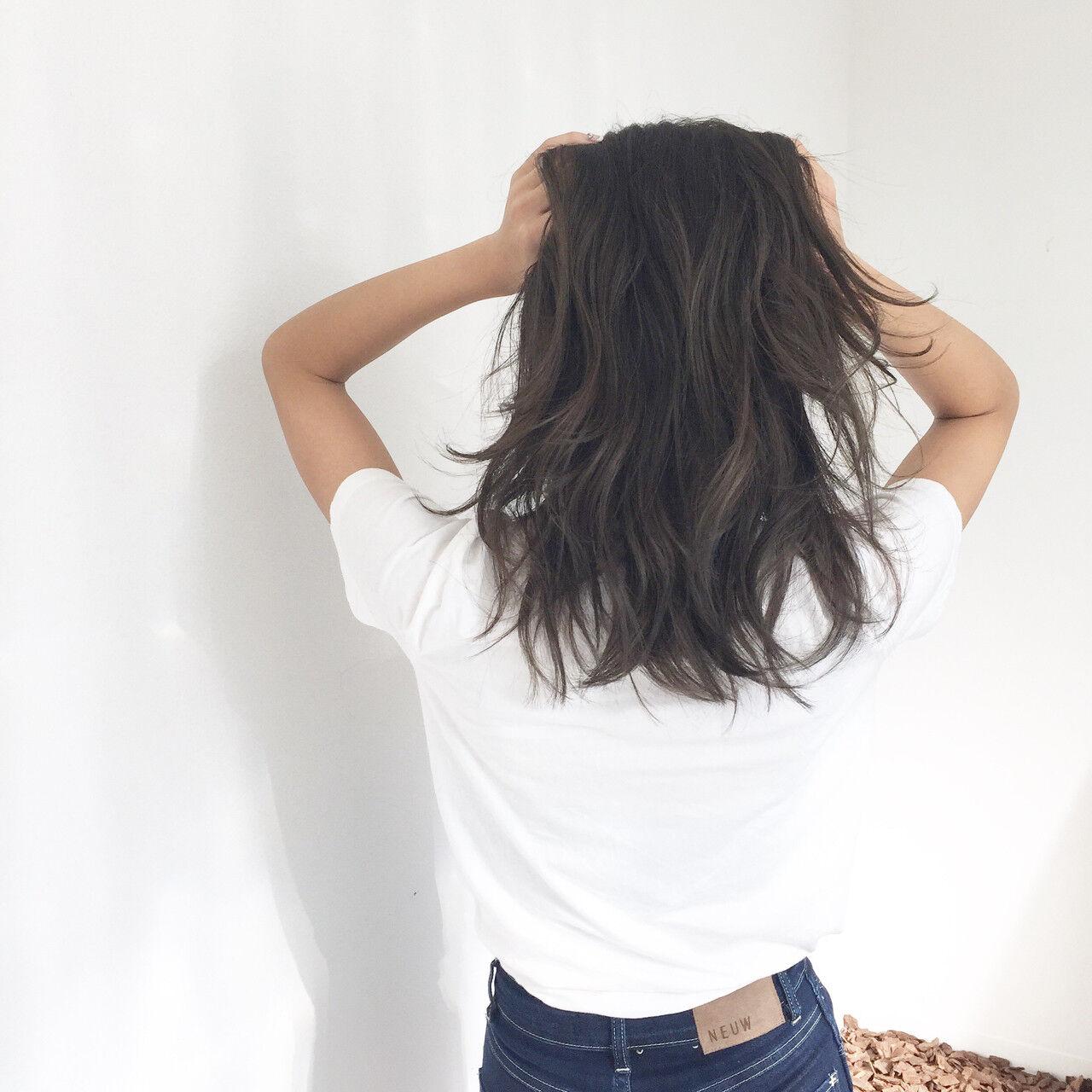 ラフ グラデーションカラー ハイライト 外国人風ヘアスタイルや髪型の写真・画像
