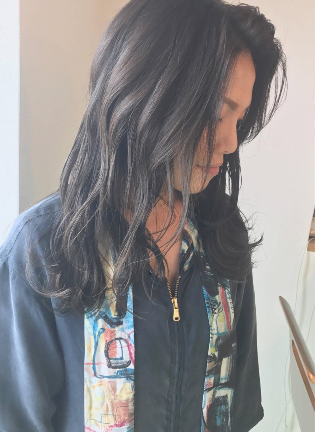 グラデーションカラー 透明感 秋 大人かわいいヘアスタイルや髪型の写真・画像