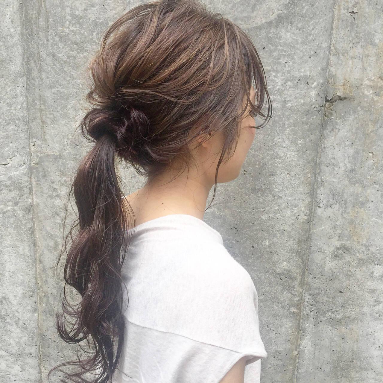 ロング 大人女子 アッシュ 暗髪ヘアスタイルや髪型の写真・画像