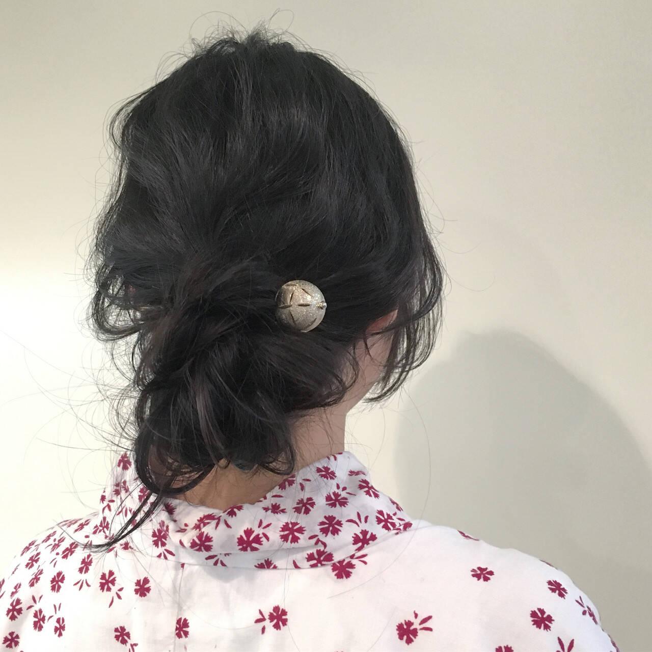 ヘアアレンジ ラフ 簡単ヘアアレンジ ウェーブヘアスタイルや髪型の写真・画像