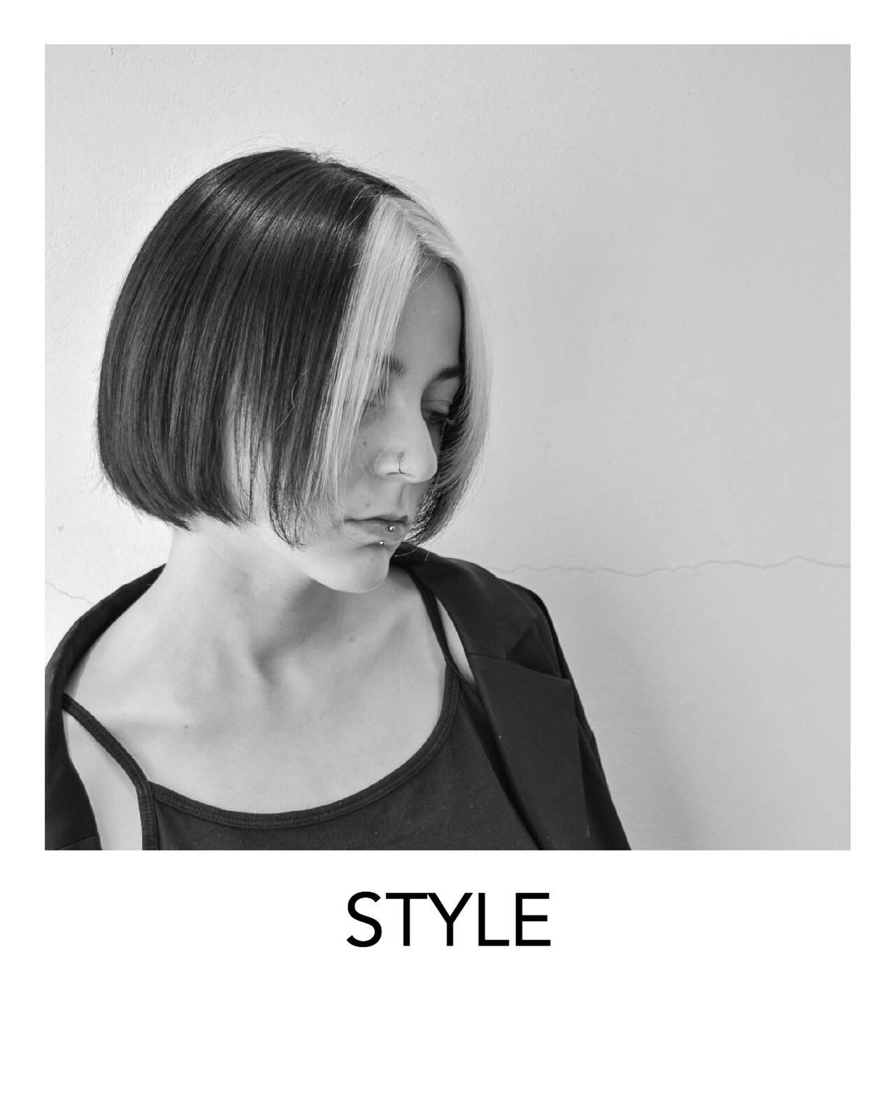 デザインカラー 原宿 ホワイトブリーチ ホワイトカラーヘアスタイルや髪型の写真・画像
