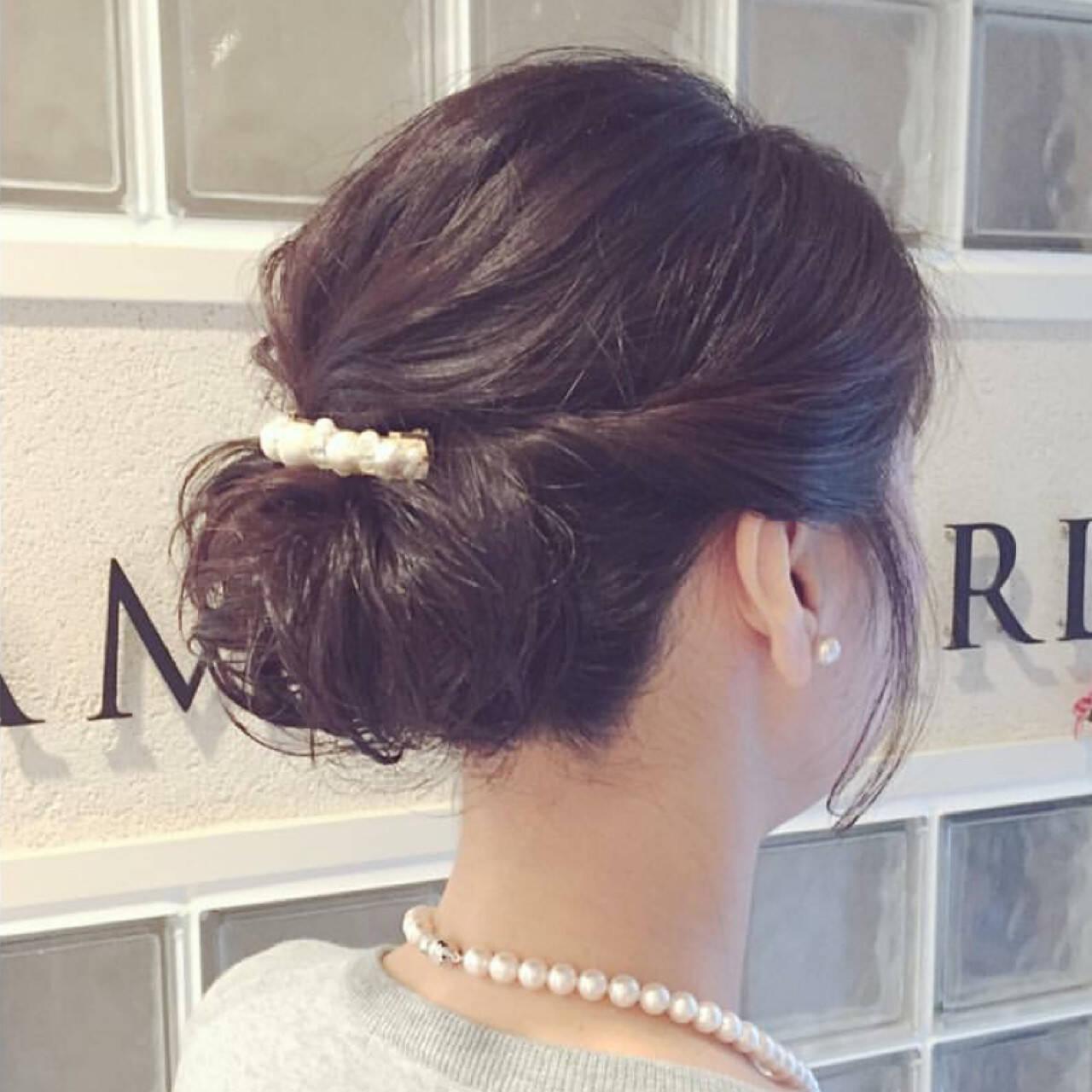 結婚式 簡単ヘアアレンジ パーティ ナチュラルヘアスタイルや髪型の写真・画像