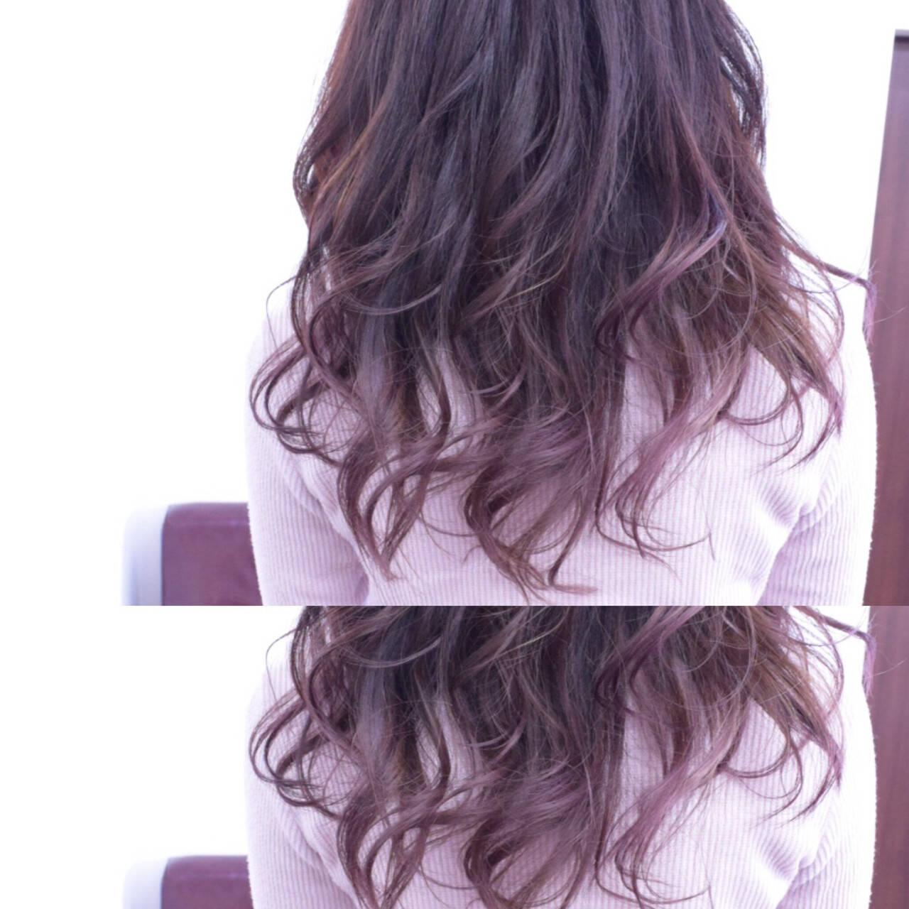 ガーリー ロング フェミニン ゆるふわヘアスタイルや髪型の写真・画像