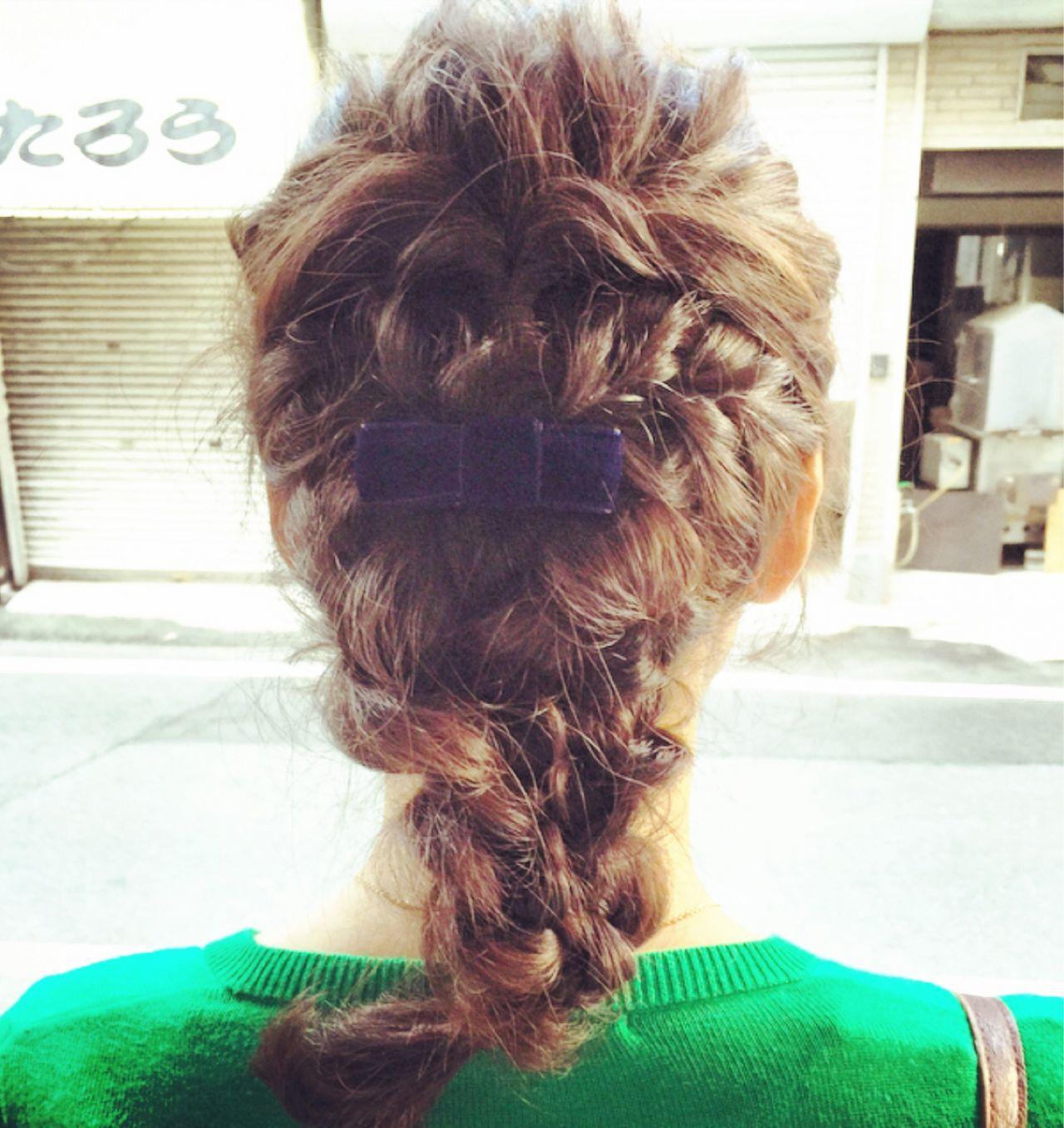編み込み 三つ編み ナチュラル 大人かわいいヘアスタイルや髪型の写真・画像