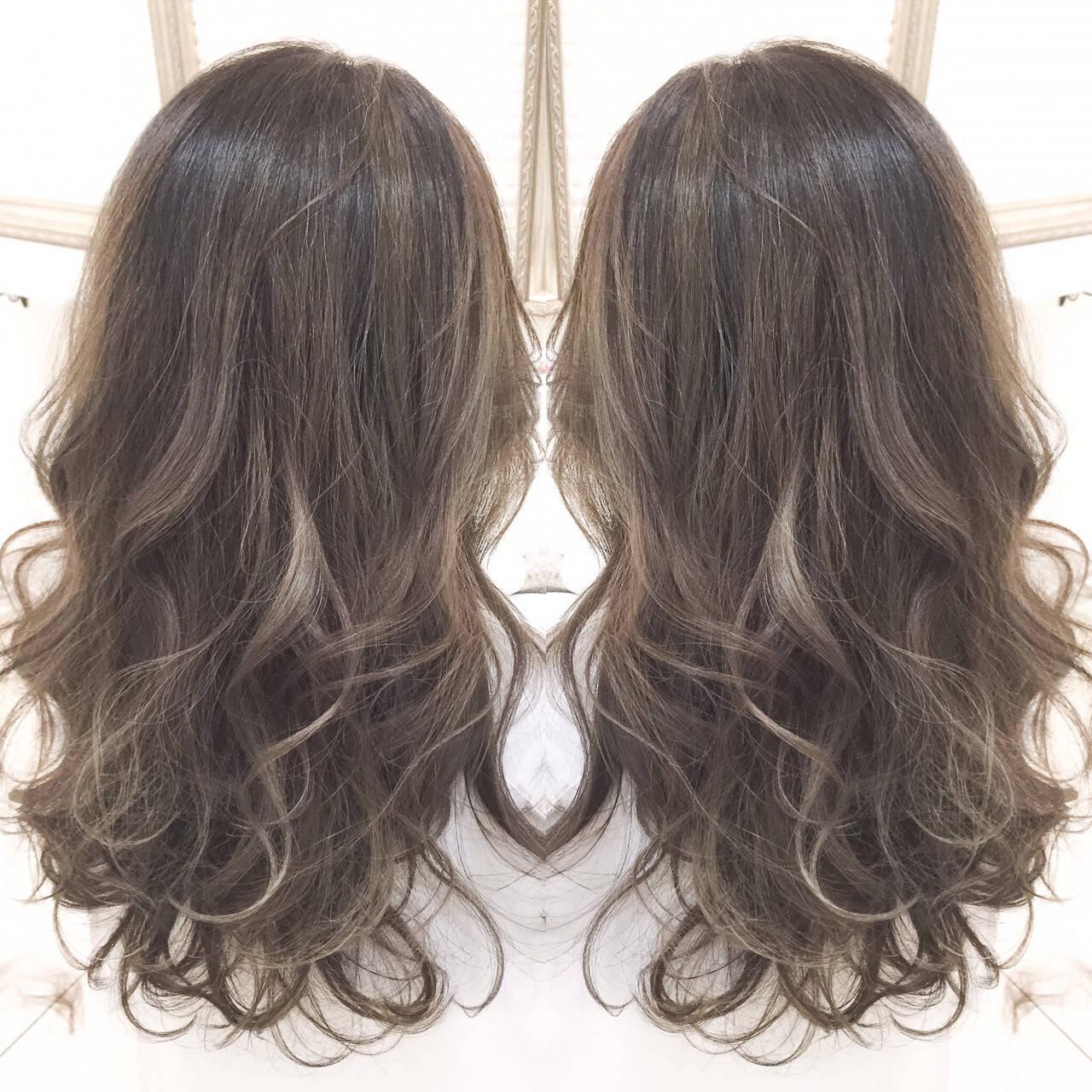 コンサバ 艶髪 外国人風 ハイライトヘアスタイルや髪型の写真・画像