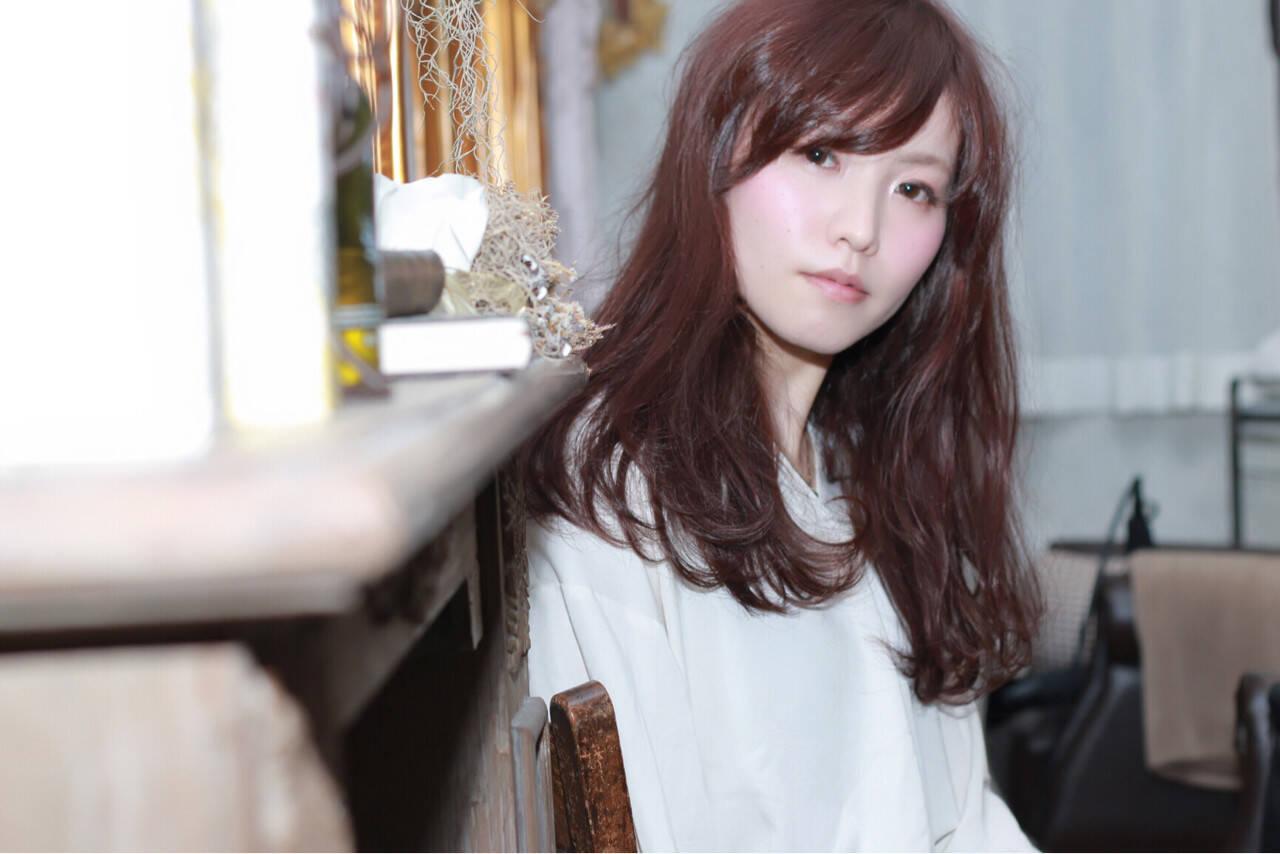 外国人風 イルミナカラー セミロング ニュアンスヘアスタイルや髪型の写真・画像