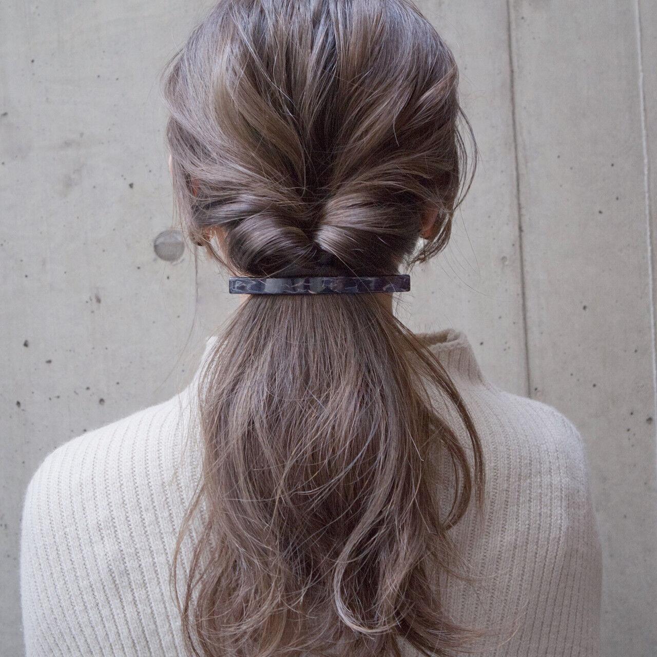 ショート ヘアアレンジ くるりんぱ ナチュラルヘアスタイルや髪型の写真・画像