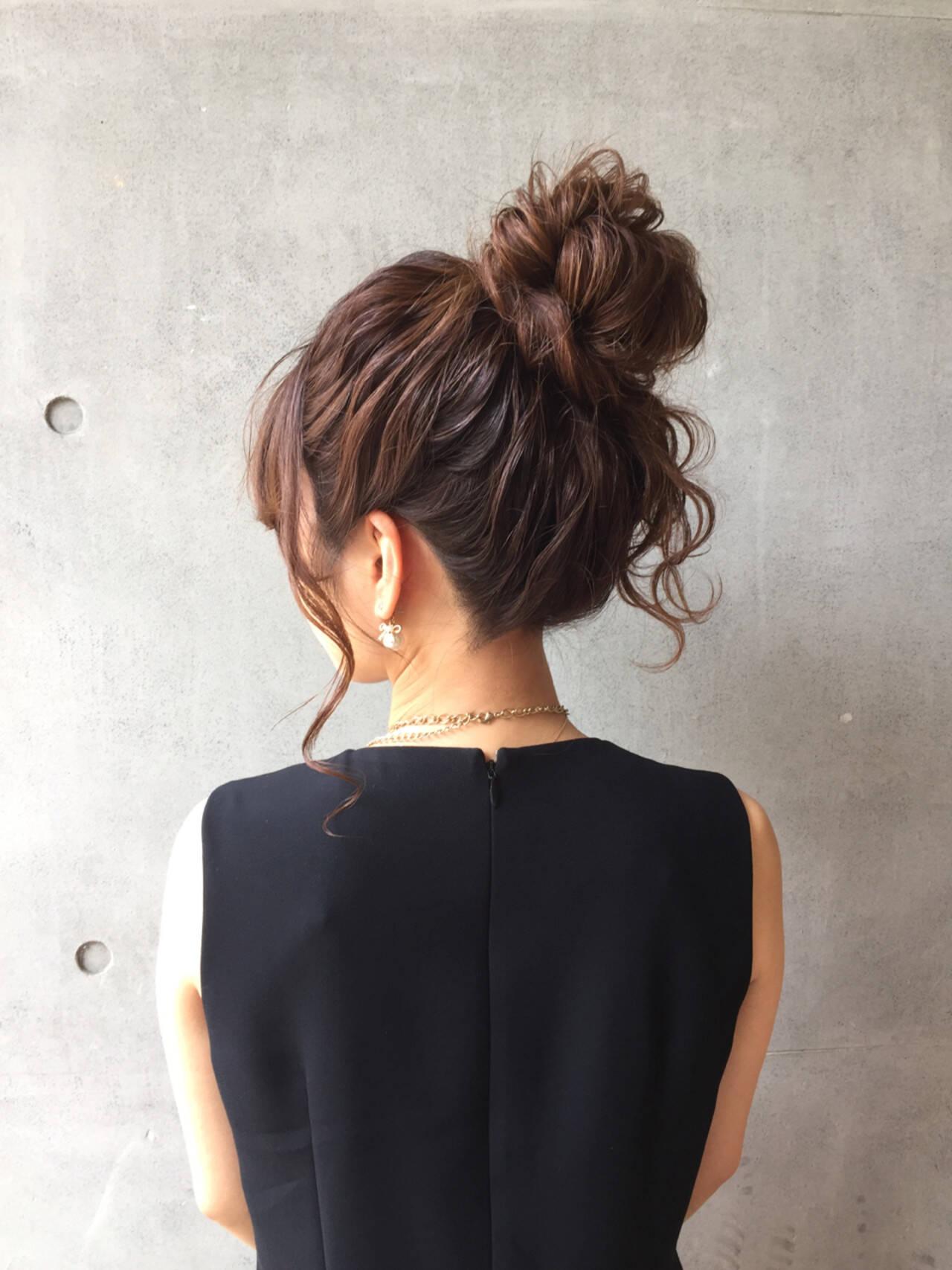 簡単ヘアアレンジ 上品 エレガント 夏ヘアスタイルや髪型の写真・画像