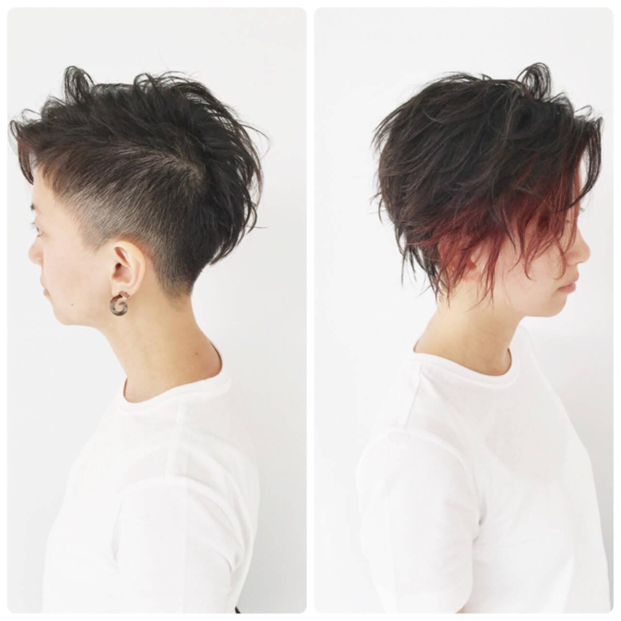 スポーツ ショート ハイライト ブリーチヘアスタイルや髪型の写真・画像
