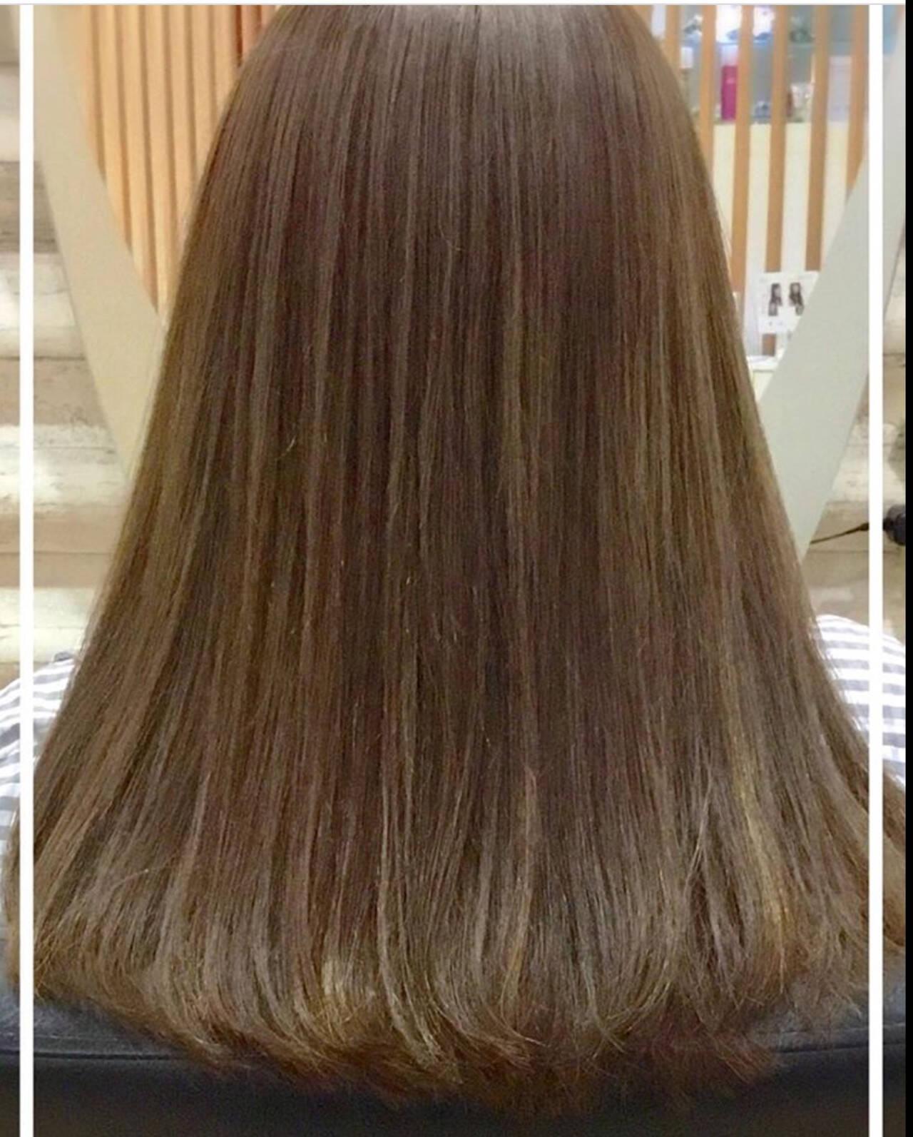 艶髪 エレガント トリートメント ロングヘアスタイルや髪型の写真・画像