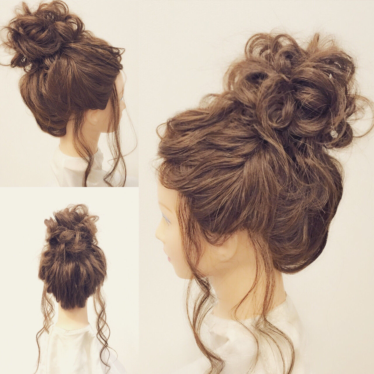ヘアアレンジ ロング お団子 結婚式ヘアスタイルや髪型の写真・画像