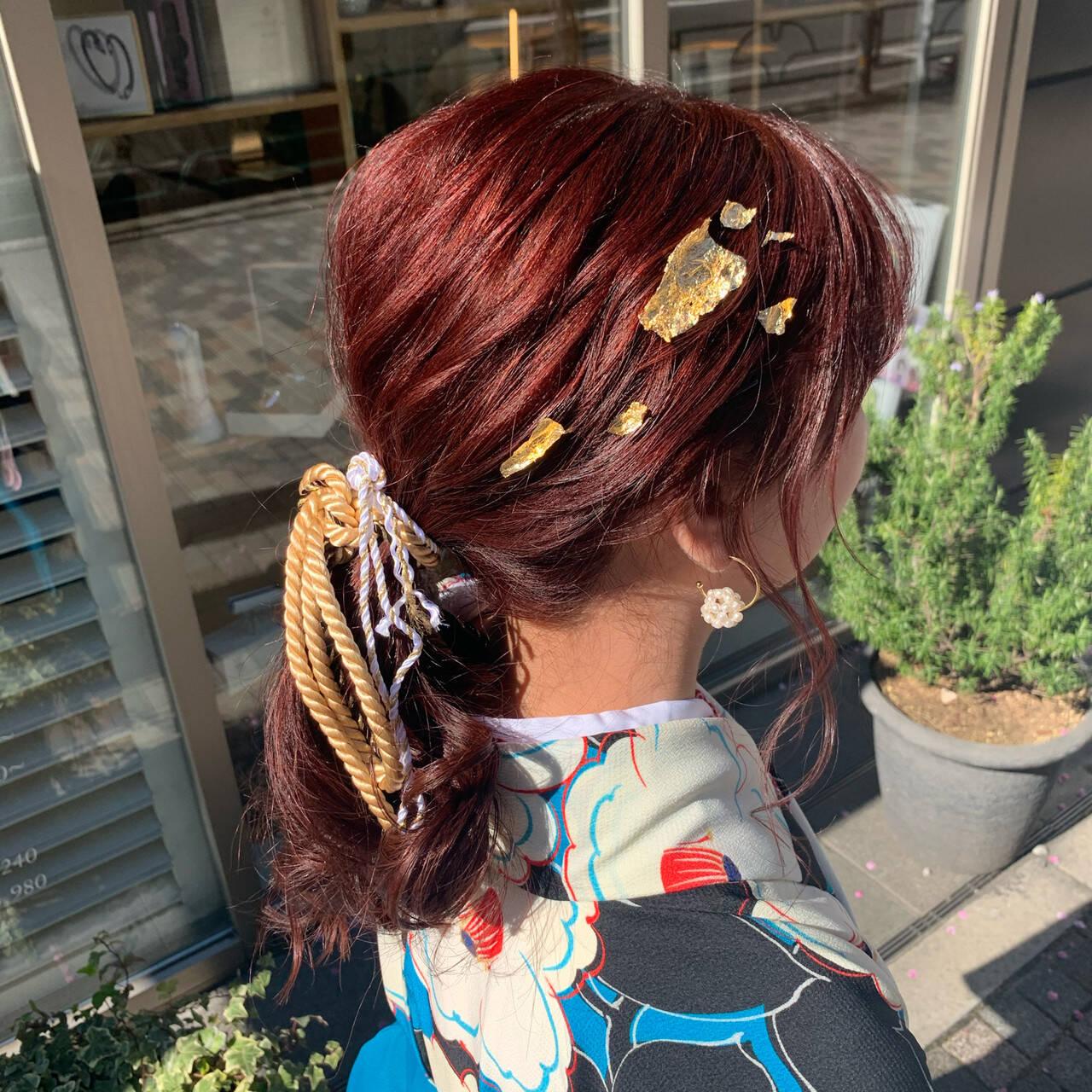 フェミニン ゆるふわセット ロング 簡単ヘアアレンジヘアスタイルや髪型の写真・画像
