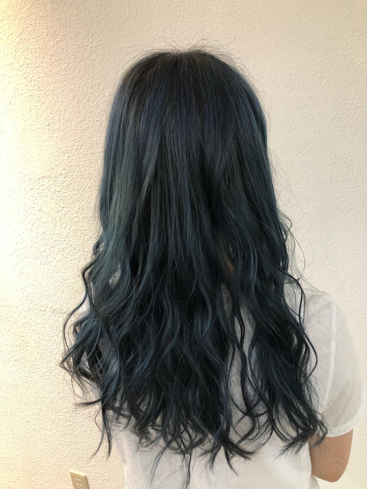 透明感カラー ロング ナチュラル ブルージュヘアスタイルや髪型の写真・画像