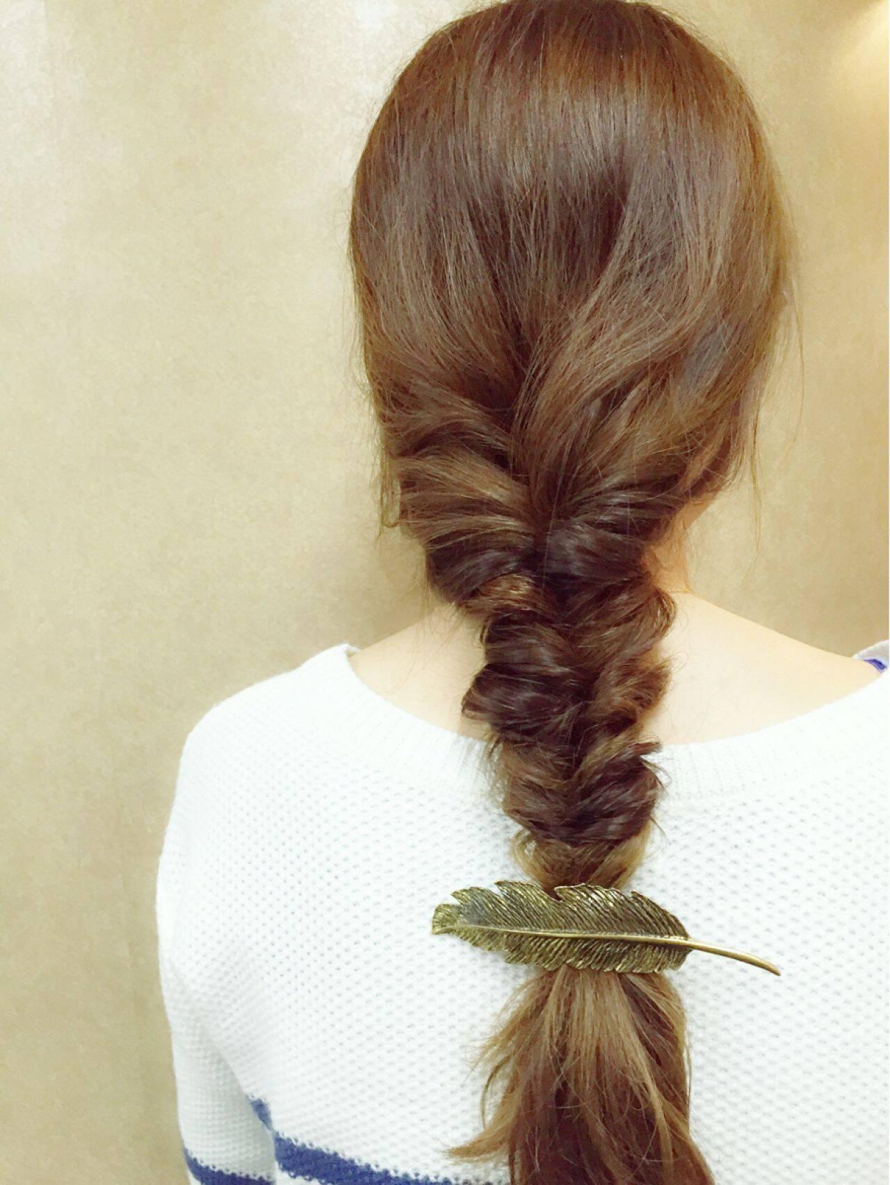 外国人風 ストリート くるりんぱ ヘアアレンジヘアスタイルや髪型の写真・画像