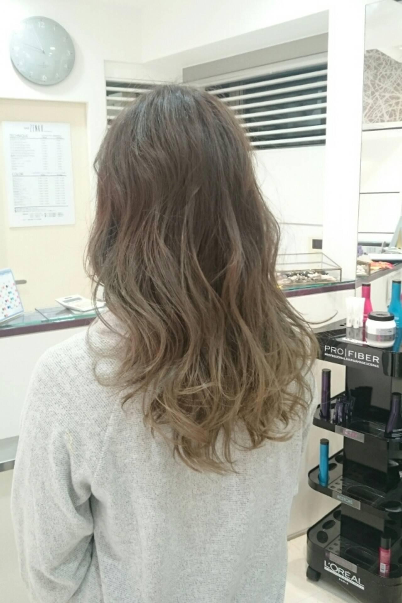 ストリート 外国人風 グレージュ 外国人風カラーヘアスタイルや髪型の写真・画像