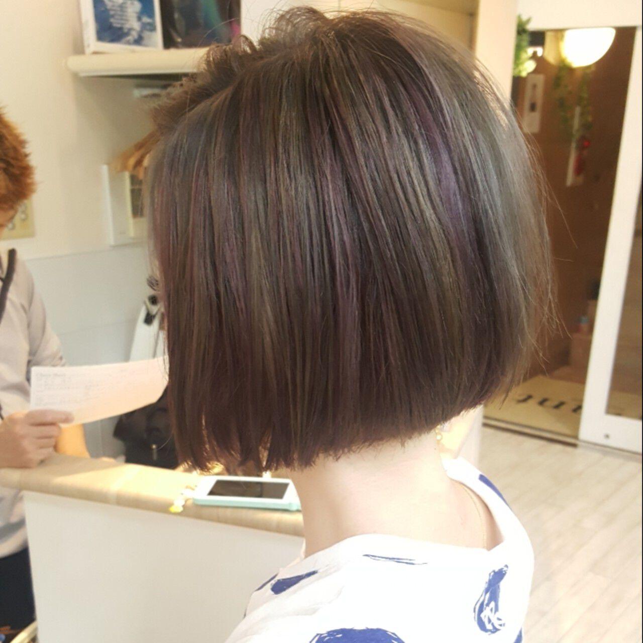 ボブ 外国人風 ストリート ダブルカラーヘアスタイルや髪型の写真・画像